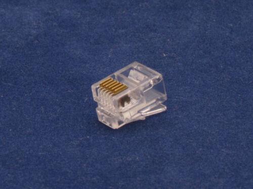 50 X Pcs RJ12 Plug 6P6C Phone Modular Telephone Connector Adapter DSL Crimp RJ11