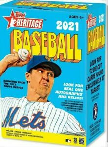 2021 Topps Heritage Baseball Factory Sealed Blaster Box