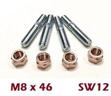 10 Stück Kupfermutter M8 SW12 mit Schlitz