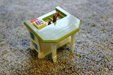 Fisher Price Loving Family Kitchen Island Sink Ivory Green Dollhouse Toy Replace