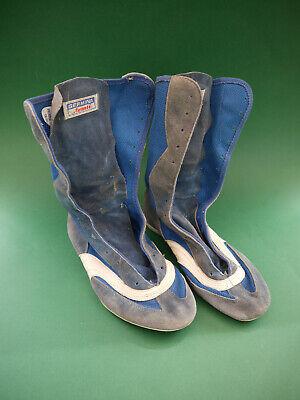 Germina Avanti DDR Schuhe Boxschuhe blau weiß Gr. 26,5 26 12 40,5 Boxerschuhe | eBay