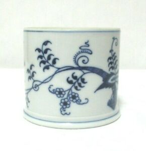 Blue-Danube-Japan-Jam-Jelly-Jar-NO-LID-Vintage-Collectible-blue-white-floral