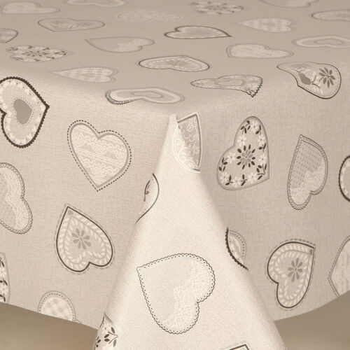 LUXURY PVC WIPE CLEAN RECTANGULAR VINYL TABLE CLOTH PARTIES EVENTS PLAIN KIDS