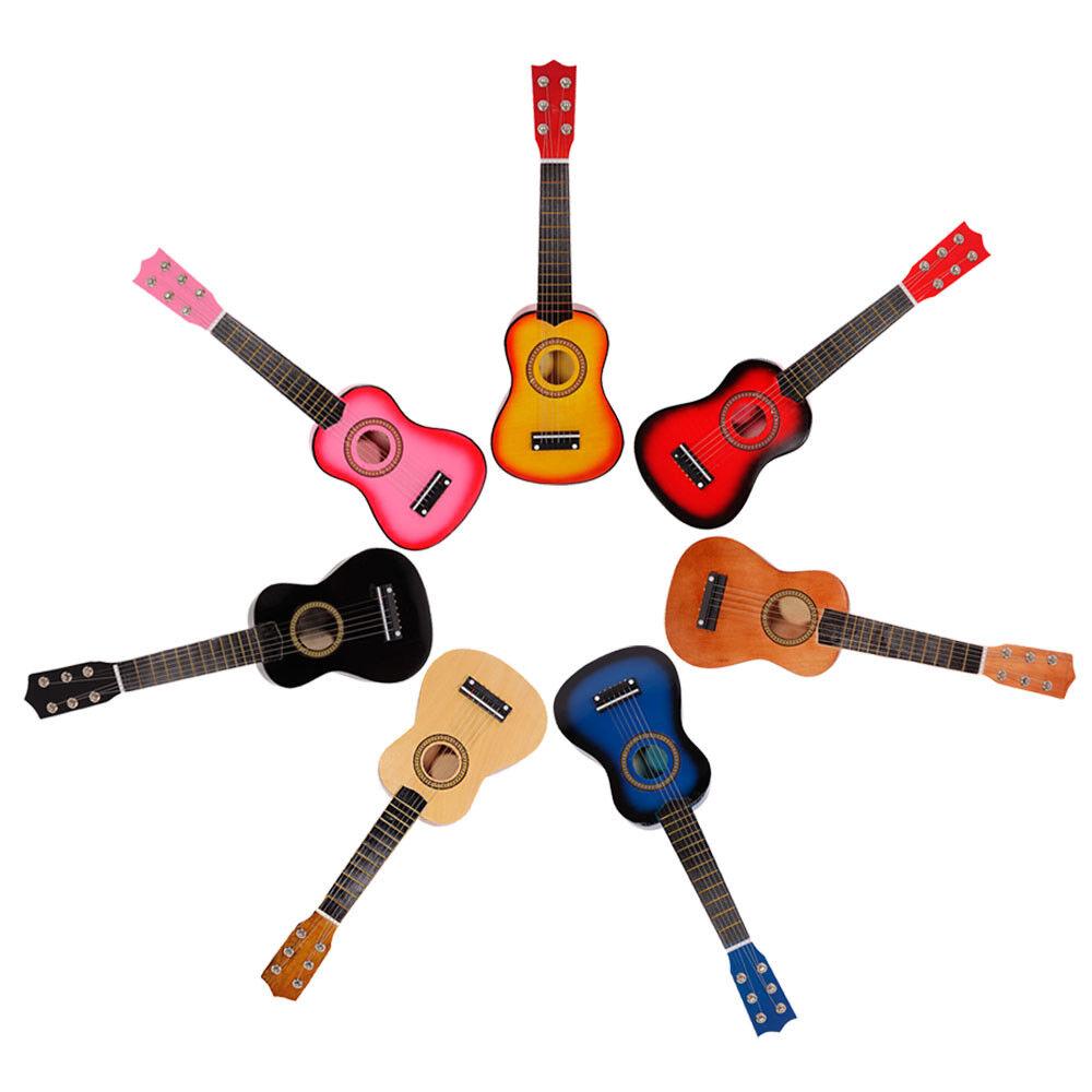 21 wooden beginners acoustic guitar 6 string children kid 39 s practice xmas gift ebay. Black Bedroom Furniture Sets. Home Design Ideas