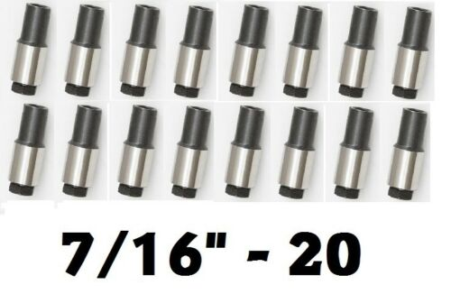 "Rocker Arm Stud Girdle Polylock Poly Lock Nuts 7//16/""-20 x .75/"" x 1.75/"" Set 16"