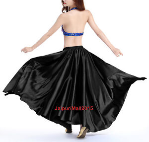 Belly Dance Costumes 360 Full Circle Satin Long Skirt Swing Tribal 8//3