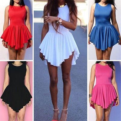 Summer Women's  Sexy Sleeveless Party Evening Short Slim Mini Cocktail Dress
