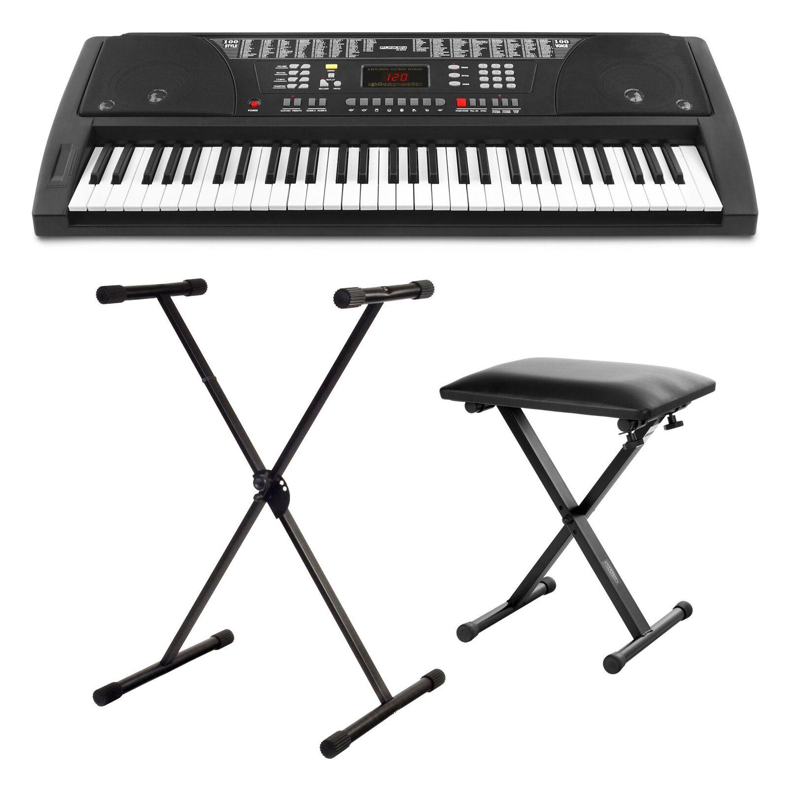 Top principiantes Keyboard set con soporte y taburete para pequeños & grandes músicos