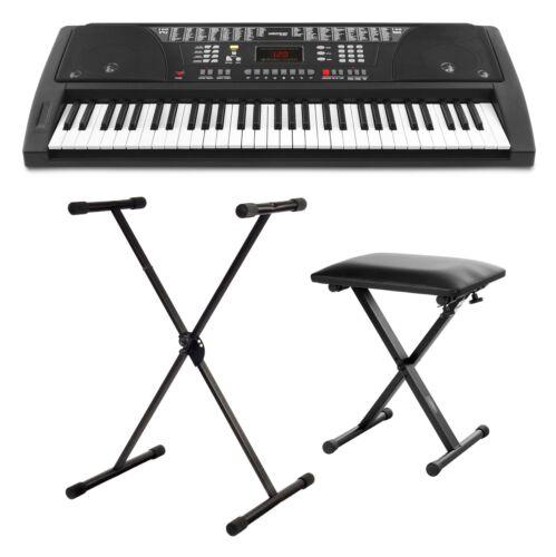 Top Einsteiger Keyboard Set mit Ständer und Hocker für Kleine & Große Musikanten