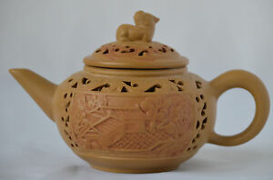 Chinese YiXing ZiSha Teapot with Mark (T074)