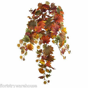 Autumn Leaves Trailing Maple Bush 90cm Artificial Silk Leaf Fall