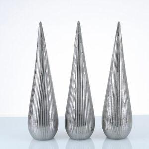 50-5cm-Cone-Decoration-Silver