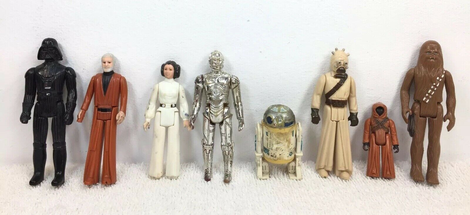 1977 Vintage Star Wars 8 of First 12 Action Figures Original Figure Lot of 8 ANH