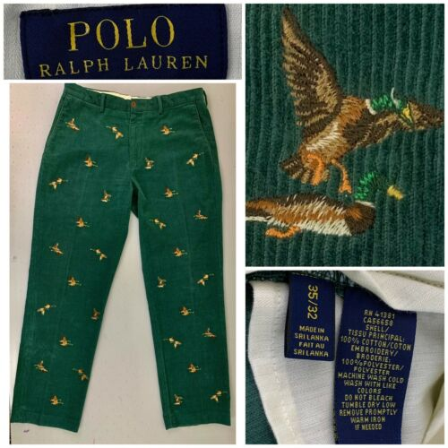 Polo Ralph Lauren Mens Corduroy Embroidered Duck H