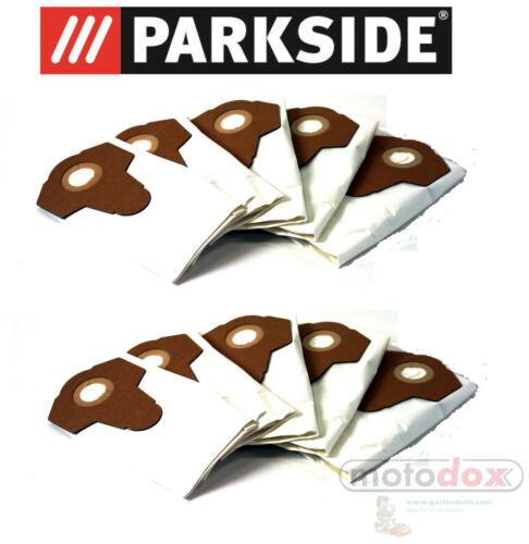 10 poussières fines Sacs pour Aspirateur Parkside PNTS 1300 a1 1300a1 IAN 55929 Lidl