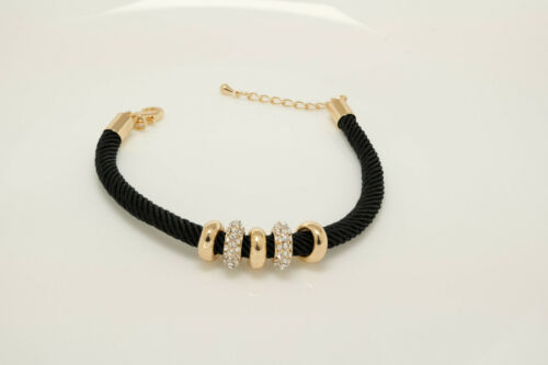 "1 ct Diamond Bracelet in Yellow Gold Plated Brass 7.25/"" Birthday Gift to Her"