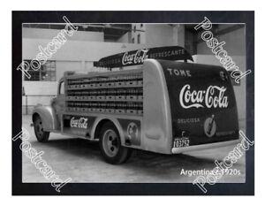 Historic-Coca-Cola-Argentina-delivery-truck-Advertising-Postcard
