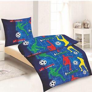 Fußball Bettwäsche 100 Baumwolle 135x200 80x80 Cm Mit