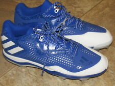 100% authentic 7c5ae 4d2d7 Adidas Men s SZ 11.5 Baseball Metal Cleats Power Alley 4 Blue   White Q16487