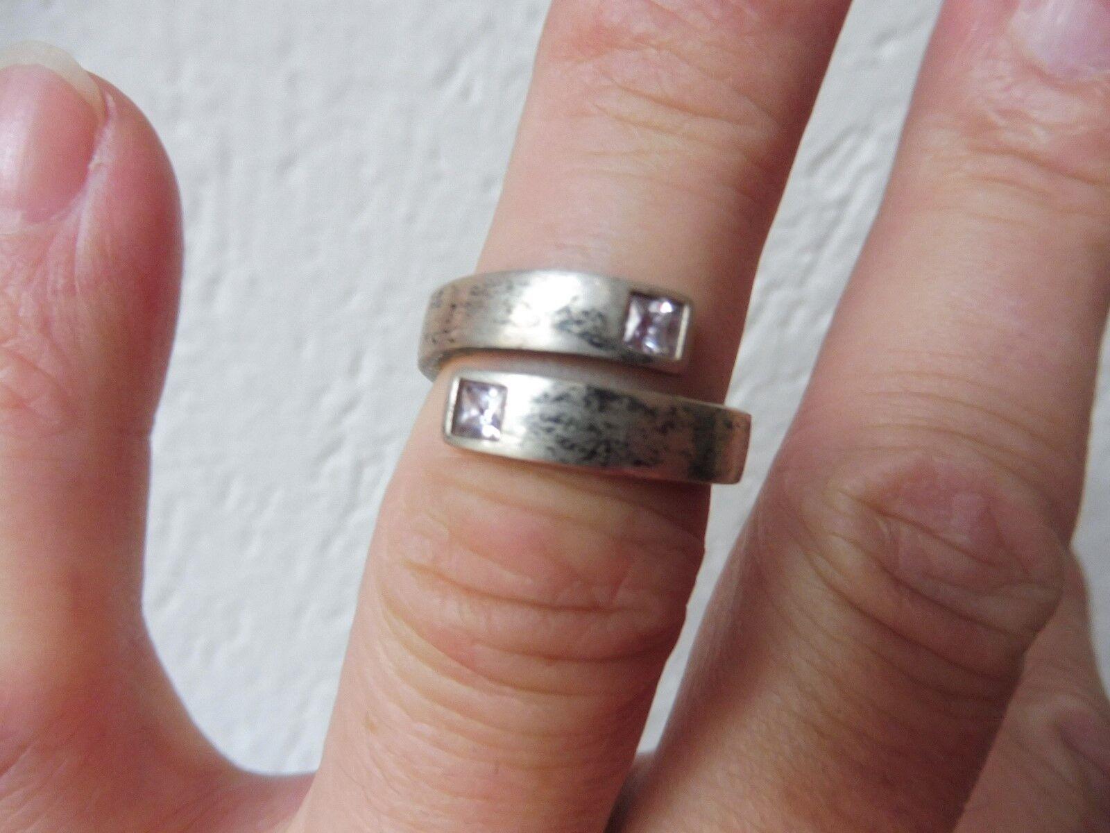 Schöner ,alter Ring__925 silver mit 2 geschliffen Steinen __Esprit__