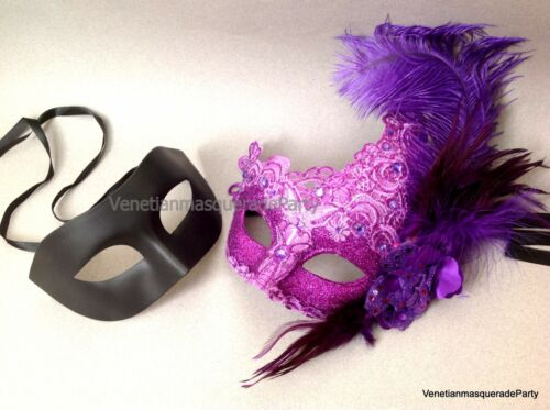 Couple date Venetian Masquerade ball Dress up Hallowee midnight Party prom mask