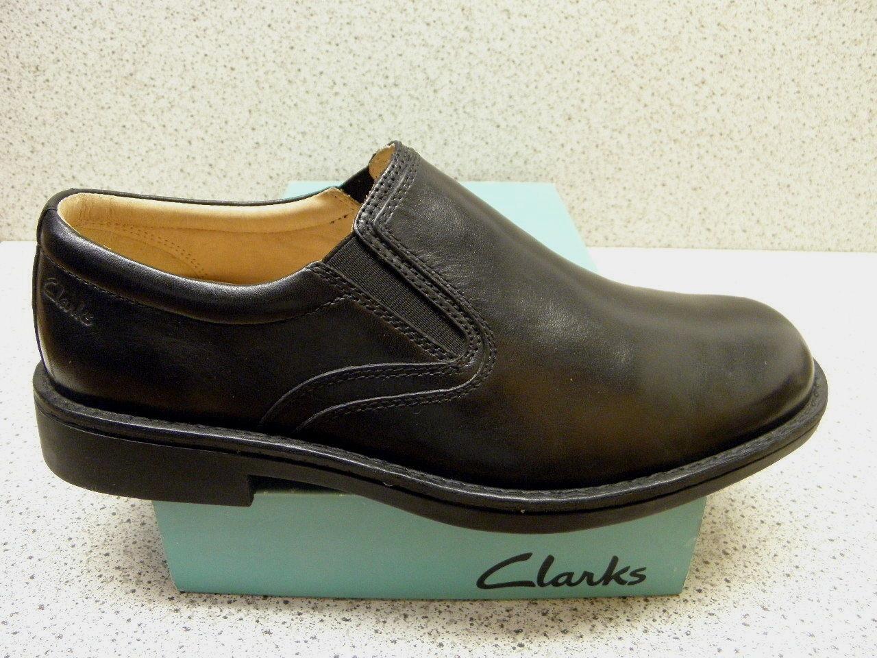 Clarks ® Sale bisher 119,95   Slipper schwarz gratis Premium - Socken   (Z289)