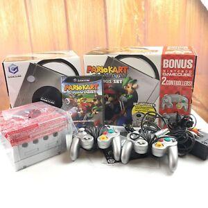 Nintendo Gamecube Platinum System Mario Kart Double Dash Bundle In Box Original 45496941550 Ebay