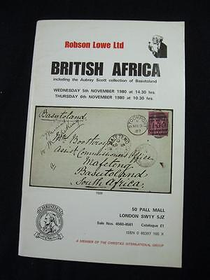 Publications Robson Lowe Auction Catalogue 1980 The 'aubrey Scott' Collection Of Basutoland