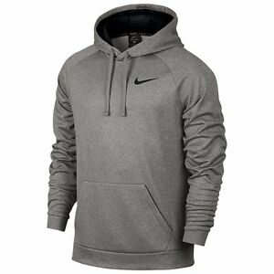 85dff03b29b2 NWT NIKE Men s BIG   TALL Therma Hoodie Sweatshirt GREY BLACK
