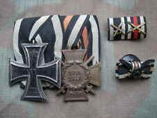 Ordensspange Preußen EK 2 + Ehrenkreuz Frontkämpfer + Feldspange + Knopflochdeko