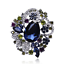 Betsey-Johnson-Blue-Crystal-Rhinestone-Flower-Charm-Women-039-s-Party-Brooch-Pin thumbnail 4