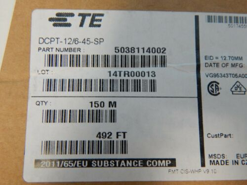 492 Ft //150M Raychem DCPT-12//6-45-SP Yellow//Green 12mm-ID Heat Shrink Tubing 2:1
