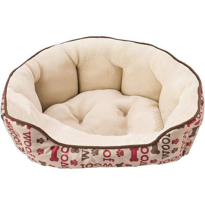 Sleep Zone 21  Woof Step-In Scallop Shape Dog Bed Taupe 077234310106