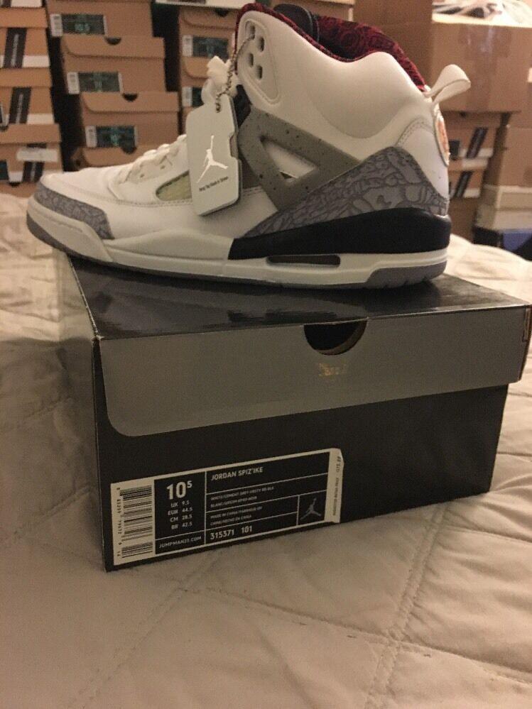 Nike Air Jordan spizike cemento de blanco comodo baratos zapatos de cemento mujer zapatos de mujer ac4ebe
