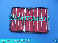 3 Sets Dental Lab Stainless Steel Kit Wax Carving Tool Set Surgical Instruments