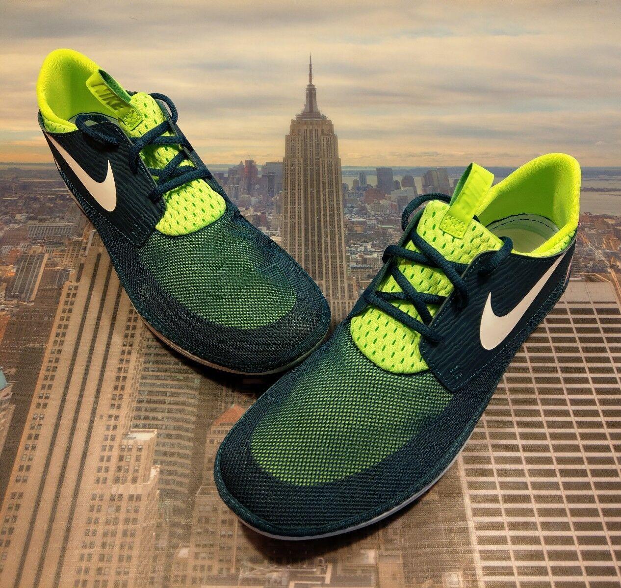 Nike Solarsoft Moccasin Nightshade/White-Blue Men's Size 14 555301 314 New