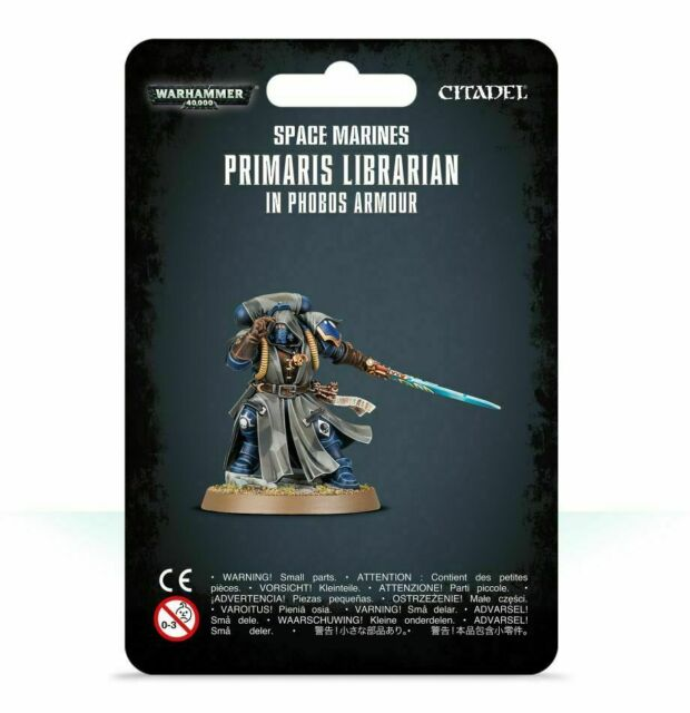 Space Marines Primaris Librarian in Phobos Armour - Warhammer 40k - New! 48-67C