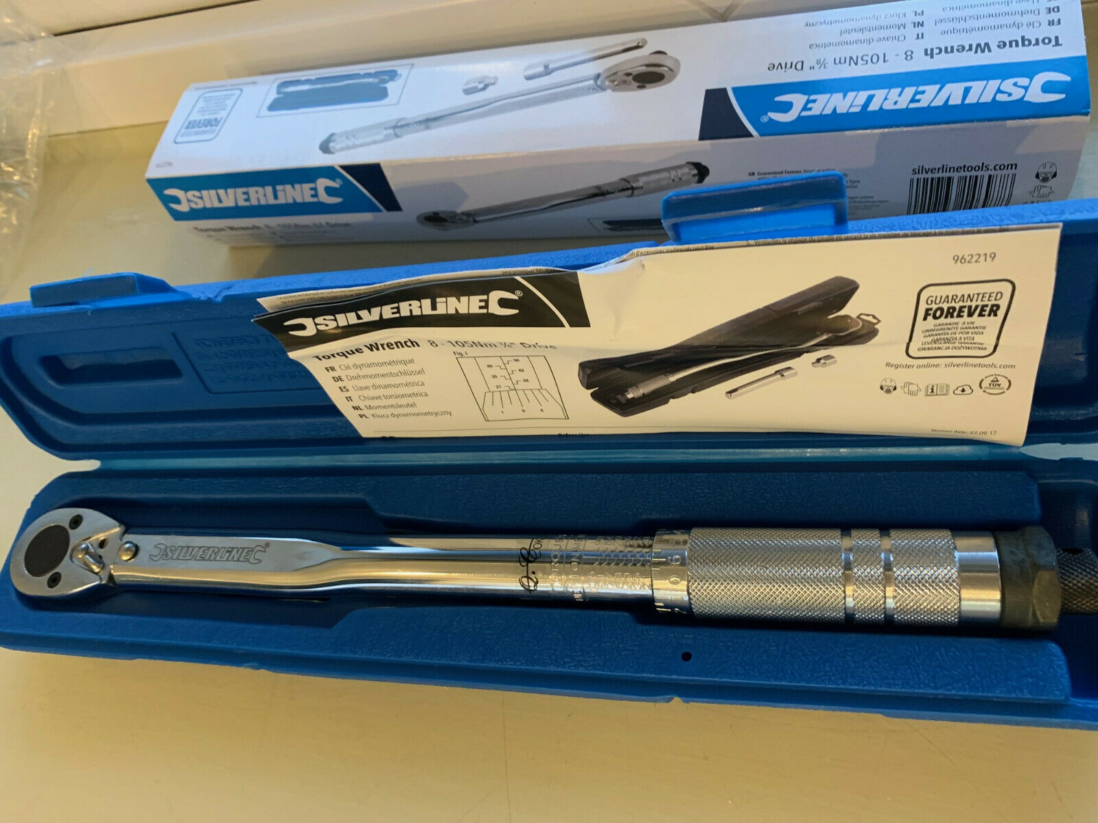 "Silverline 962219 Torque Wrench 3//8/"" Drive 8-105Nm"