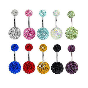 Navel-Belly-Button-Ring-Barbell-Rhinestone-Crystal-Ball-Piercing-Body-Jewelry