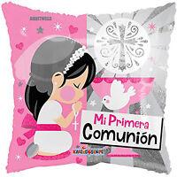 First Communion Balloons  Mi Primera Comunion  ( 3 Balloons ) 18 - Pink