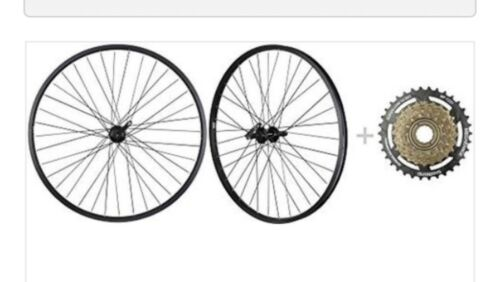 "Bicycle Wheels 26"" Motorized Bicycle Wheelset 7 Speed With Shimano Freewheel"