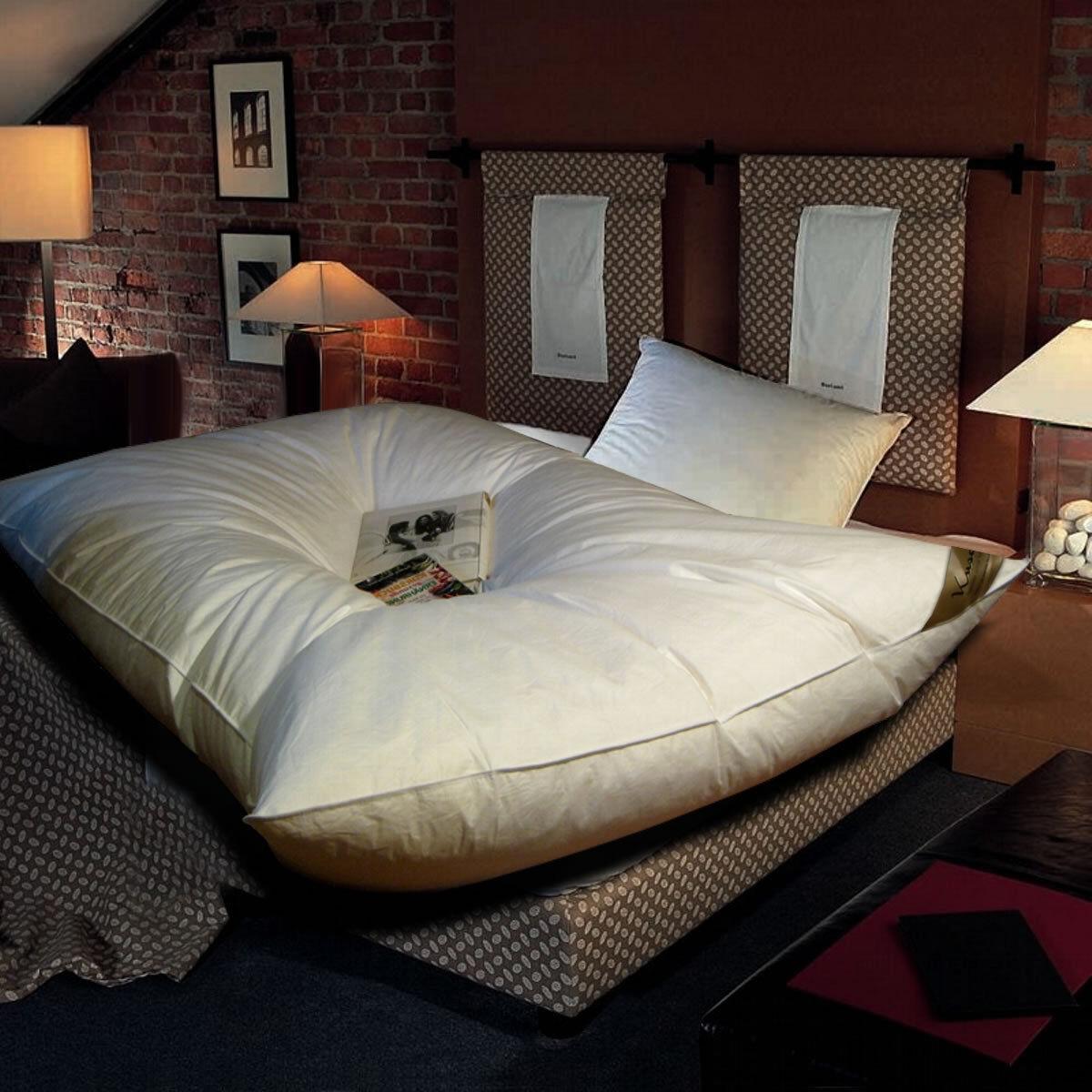 Ballonbett 155x220 cm weiße 30% Gänsedaunen Oberbett Feder-Bett Daunen-Decke