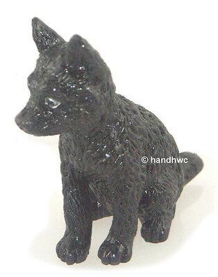 AAA 96969 Black Wolf Pup Wild Animal Toy Model Figurine Replica - NIP