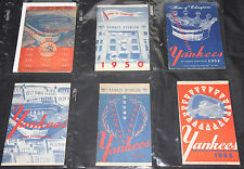 1940s-1980s YANKEES SCORECARD & PROGRAM LOT 20pc VG-NM Magazines Baseball