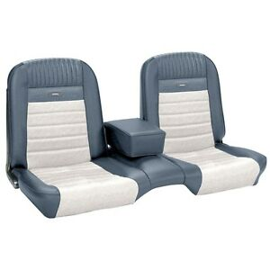 Pleasing Details About Deluxe Pony Seat Upholstery Ford Mustang Front Bench Seat Blue White Ibusinesslaw Wood Chair Design Ideas Ibusinesslaworg