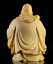 thumbnail 2 - 10*8*6cm Chinese Box-wood Hand Carving Taoism Immortal Lucky Fu God Statue 福星