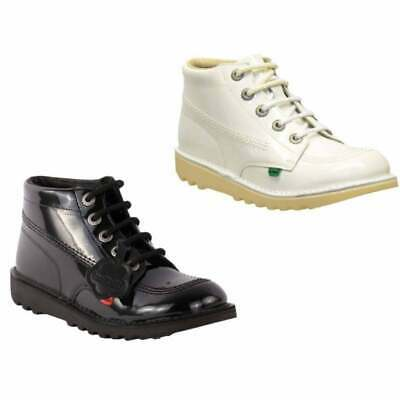 Kickers Kick Hi Youth Core Leather Boots Dark Tan UK6 EU39 Boxed New