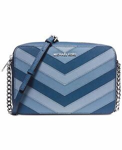 michael kors 32h5stvc20 jet set travel chevron large ew crossbody rh ebay com michael kors jet set crossbody light blue michael kors jet set travel large crossbody blue