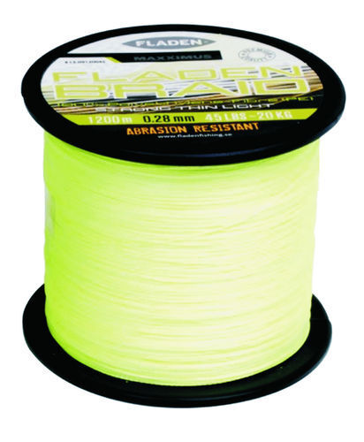 (  M) Maxximus Fladen Braid 3937 0 12ft, Cord Yellow - 0.011In - 44.09lbs