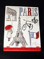 Molly & Rex Paper Notepad Jeweled Paris Eiffel Tower Magnetic 61523 Punch Studio